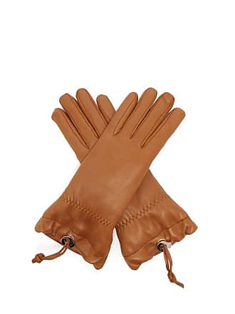Jil Sander Drawstring Leather Gloves - Womens - Tan