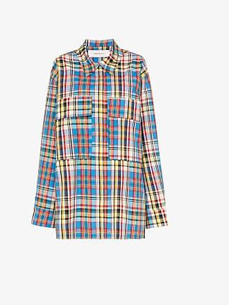 49d68f0155fb2c Marques Almeida MarquesAlmeida oversized checked raw hem shirt