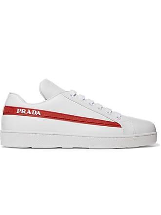 3a119e82ee257 Prada Avenue Last Sneakers Aus Leder Mit Logodetails - Weiß