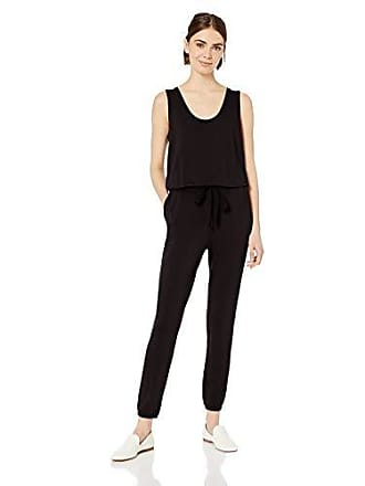 Daily Ritual Womens Supersoft Terry Sleeveless Jumpsuit, Black, X-Large