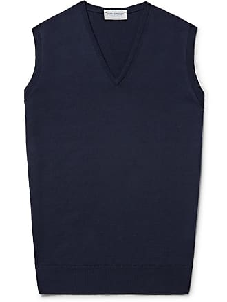 John Smedley Hadfield Merino Wool Sweater Vest - Midnight blue