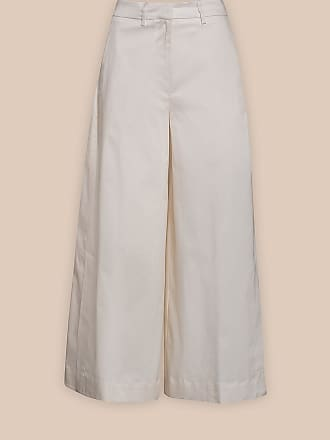 L'autre Chose OVERSIZED TROUSERS IN WHITE COTTON TWILL