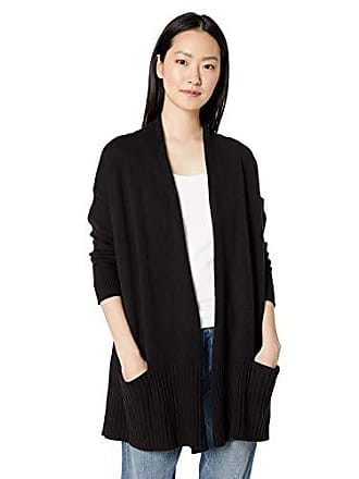 Daily Ritual Womens Cocoon Open-Front Cardigan Sweater, black, Medium