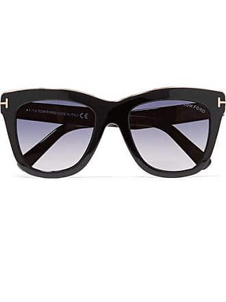 Tom Ford Julie D-frame Acetate And Gold-tone Sunglasses - Black