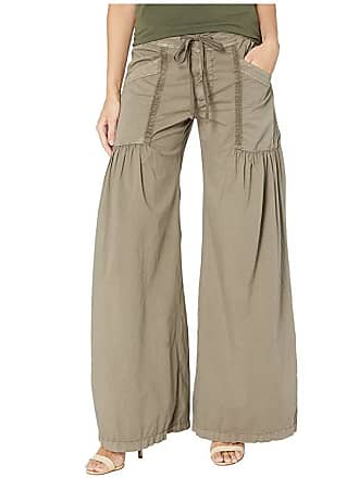 Xcvi Willow Wide Leg Stretch Poplin Pants (Wren Pigment) Womens Casual Pants