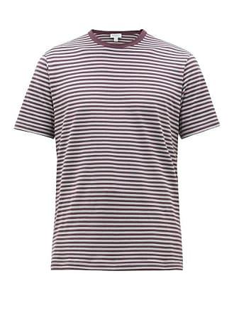 c2e9c02c Sunspel Breton Stripe Cotton Jersey T Shirt - Mens - Burgundy