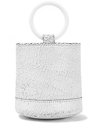 Simon Miller Bonsai 15 Mini Cracked-leather Bucket Bag - White