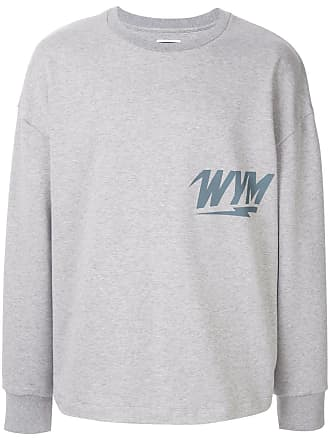 Wooyoungmi Moletom com logo estampado - Cinza