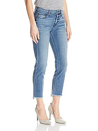 Parker Smith Womens Shark Bite Straight Crop Jeans, Nile, 27