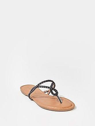 Forever 21 Forever 21 Braided Thong Sandals Black