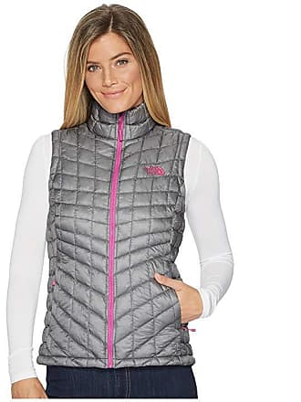 04ba7b855aa4 The North Face Thermoball Vest (Mid Grey Violet Pink) Womens Vest