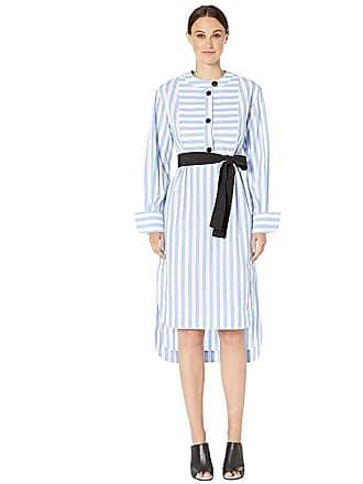 Yigal AzrouËl Candy Monostripe Tunic Dress (Cornflower Multi) Womens Dress
