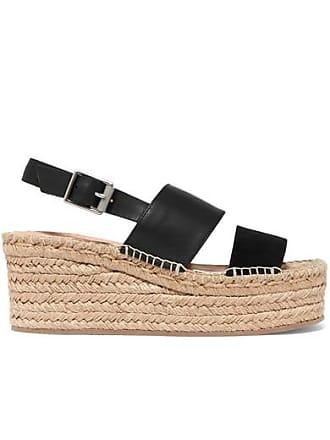 9ecad728e Rag & Bone Edie Leather And Suede Espadrille Wedge Sandals - Black