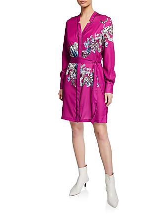 Yigal AzrouËl Floral Snake Print Pajama Shirtdress