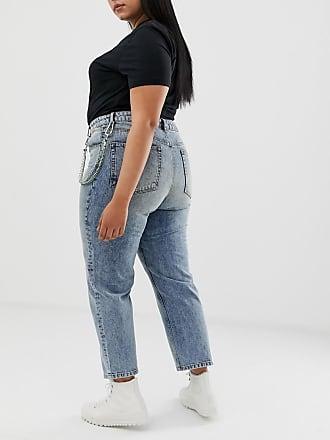 7041dcbf38d6 Asos Curve ASOS DESIGN Curve - Florence - Authentische, gerade geschnittene  Jeans in Vintage-