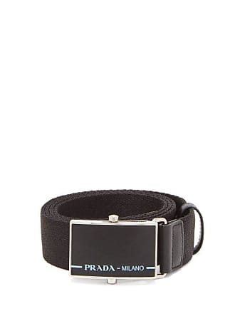 Prada Logo Buckle Belt - Mens - Black