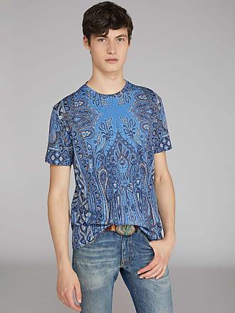 Etro T-shirt Mit Paisley-muster, Herren, Hellblau, Größe XS