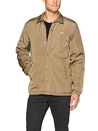 Obey Mens Sanction Coaches Jacket, Dusty Army, M