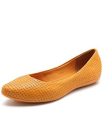 Bottero Sapatilha Couro Bottero Textura Amarela