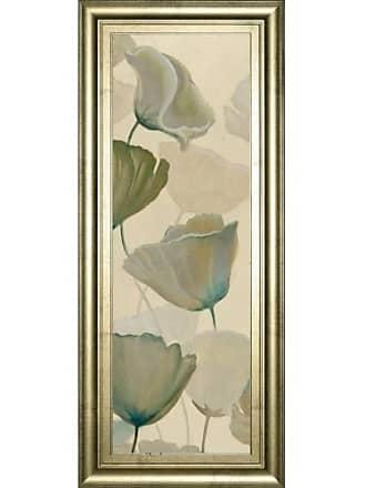 Classy Art Poppy Impression Panel 1 Framed Wall Art - 18W x 42H in