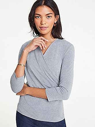 ANN TAYLOR 3/4 Sleeve Wrap Top