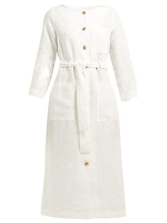 Mara Hoffman Pamela Belted Hemp Shirtdress - Womens - White