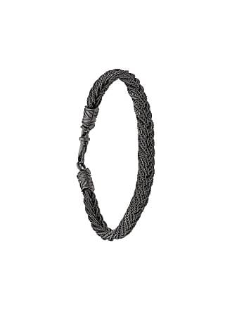 Emanuele Bicocchi woven chain bracelet - Preto