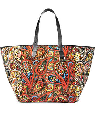 J.W.Anderson Belt Leather-trimmed Printed Canvas Tote - Orange