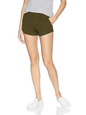 Hurley Juniors Lowrider Flat Front Scallop Hem Chino Shorts, Olive Canvas, 11