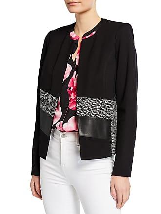 Iconic American Designer Tweed Combo Short Jacket