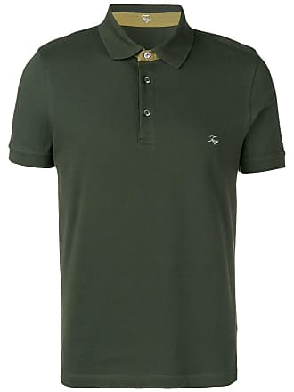 Fay embroidered logo polo T-shirt - Green