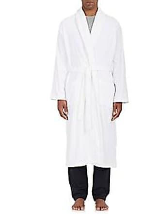 Derek Rose Mens Triton Cotton French Terry Velour Robe - White Size XL 311a5a00f