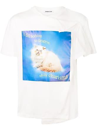 Ground-Zero Camiseta com slogan - Branco
