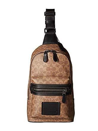 Coach Academy Pack in Signature (Beige) Cross Body Handbags