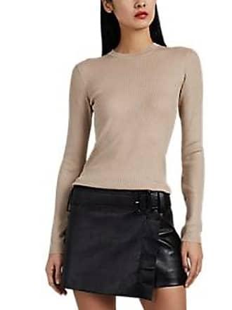 bbc0a9f00e31 Prada Womens Rib-Knit Wool-Silk Sweater - Camel Size 36 IT