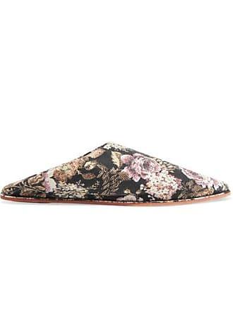 Nanushka Babou Floral-jacquard Slippers - Navy