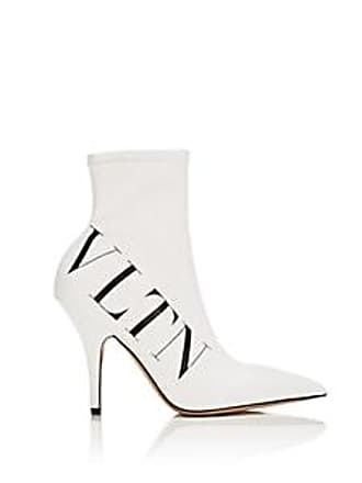 864d8e948a90 Valentino Womens Stretch-Leather Ankle Boots - White Size 10.5