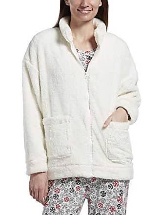 Hue Womens Fleece Bed Jacket, Off Off White, L/XL