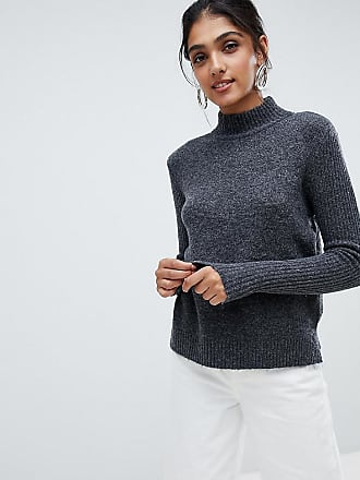 Y.A.S. Tall high neck knitted sweater - Gray