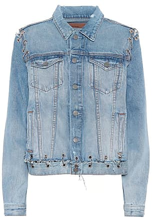 GRLFRND Gia embellished denim jacket