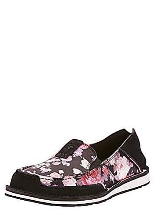 Ariat Ariat Womens Cruiser Moccasin, Black/Satin Floral, 5.5 B US
