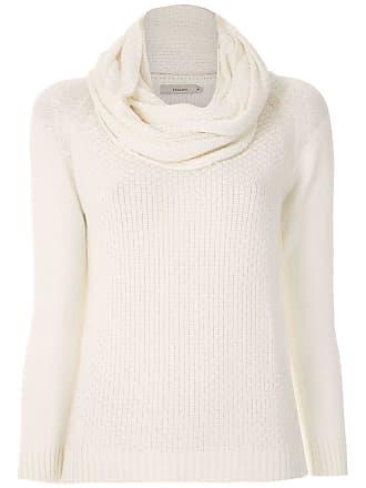 Fillity Blusa de tricô gola ampla - Branco