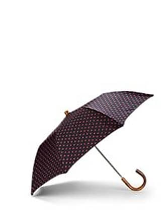 Barneys New York Mens Polka Dot Folding Umbrella