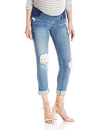 James Jeans Womens Neo Beau Under-Belly Maternity Slim Boyfriend Jean in Venice, 27
