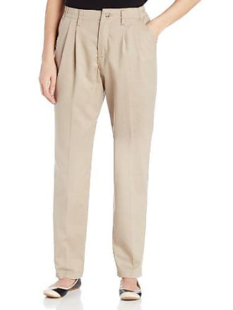3823cc433e100 Lee Lee Womens Petite Relaxed Fit Side Elastic Pleated Pant