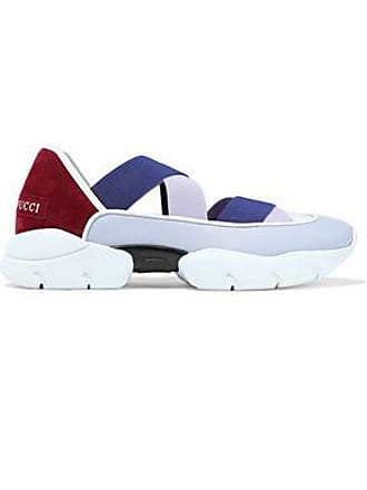 Emilio Pucci Emilio Pucci Woman City Dance Color-block Leather And Suede Slip-on Sneakers Lilac Size 36