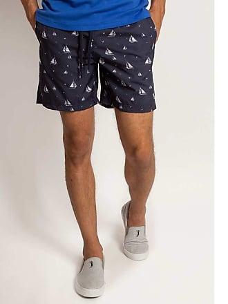 Aleatory Shorts Estampado Aleatory Sailing-Azul Marinho-P
