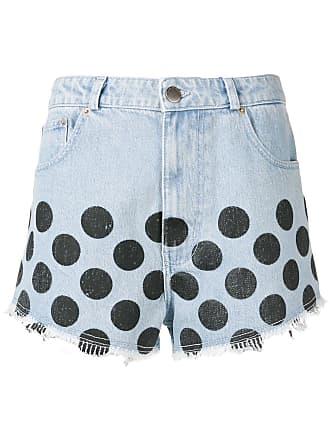 House Of Holland Short Jeans com poá - Azul