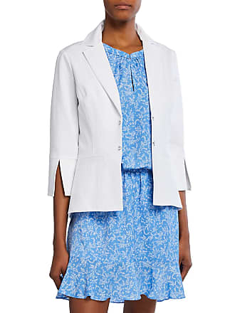 Neiman Marcus 3/4-Sleeve Slit-Cuff Jacket