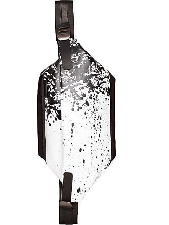 Côte & Ciel Cote et Ciel Isarau Printed Alias Cowhide Leather Sling Bag   White/Black